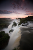 A Dramatic Sunset over Iguazu Falls