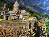 The 9th Century Monastery of Tatev Is Located on a Large Basalt Plateau in Armenia