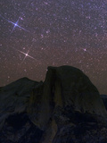 The Milky Way and the Constellation Gemini  the Twins  Appear over Half Dome