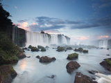 A Dramatic Sunset over Iguacu Waterfalls