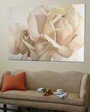 Romantic White Rose Toile Murale Géante par Yvonne Poelstra-Holzaus