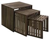 Burlington Iron & Wood Nesting Table Set