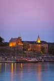 Akershus Fortress and Harbour  Oslo  Norway  Scandinavia  Europe