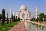 India, Uttar Pradesh, the Taj Mahal, This Mughal Mausoleum Has Become the Tourist Emblem of India Papier Photo par Gavin Hellier