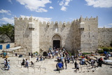 Damascus Gate in the Old City  UNESCO World Heritage Site  Jerusalem  Israel  Middle East