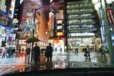 Neon Lights on a Rainy Evening  Shinjuku  Tokyo  Honshu  Japan  Asia