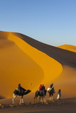 Tourists on Camel Safari  Sahara Desert  Merzouga  Morocco  North Africa  Africa