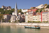Eglise Saint George and Vieux Lyon on the Banks of the River Saone