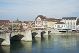 Basel on the River Rhine  Switzerland  Europe