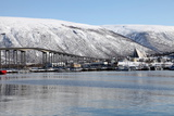 Tromso Bridge and the Cathedral of the Arctic in Tromsdalen  Troms  Norway  Scandinavia  Europe