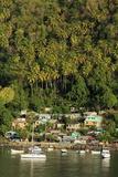 Town of Soufriere, St. Lucia, Windward Islands, West Indies, Caribbean, Central America Papier Photo par Richard Cummins