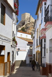 Moorish Tower in the Hilltop Village of Olvera  Olvera  Cadiz Province  Andalusia  Spain  Europe