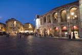 Roman Arena at Night  Verona  Italy