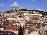 Cityscape of Lisbon and Castelo De Sao Jorge  Portugal