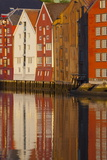 Old Fishing Warehouses Reflected in the River Nidelva