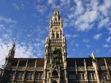 Exterior and Clock Tower of the Neues Rathaus  Munich  Bavaria  Germany