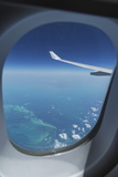 Airplane Flying over Bahamas Sand Banks  West Indies  Central America
