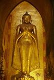 Statue of the Buddha  Patho Ananda Temple  Bagan (Pagan)  Myanmar (Burma)  Asia