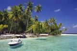 Boat Moored Off the Coast of Kuda Bandos  North Male Atoll  Maldives