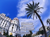 Street in Cote D'Azur  France