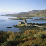 Scotland  Highlands  Eilean Donan Castle  Elevated View