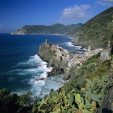 View of the Cinque Terre Village of Vernazza