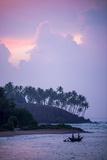 Mirissa Beach  Traditional Sri Lankan Outrigger Fishing Boat at Sunrise  South Coast