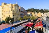 Outdoor Restaurants Set Up in Cours Saleya