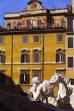 Trevi Fountain Detail  Rome  Italy