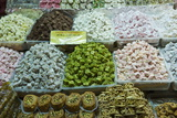 Turkish Delight and Baklava for Sale in Spice Bazaar  Istanbul  Turkey  Western Asia