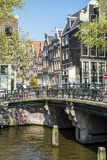 Bridge over Brouwersgracht  Amsterdam  Netherlands  Europe