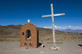 Christian Sanctuary on a Mountain Pass Near Mendoza  Argentina  South America