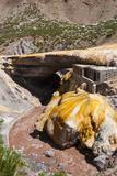 The Inca Bridge Near Mendoza  Argentina  South America