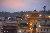 Pashupatinath Temple at Dusk  UNESCO World Heritage Site  Kathmandu  Nepal  Asia