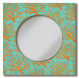 Coral Lace Mirror Wood Sign