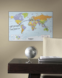 World Map Dry Erase Peel and Stick Giant Wall Decal