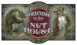 Welcome To The Nut House Vintage Wood Sign