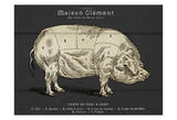 Coupe Du Porc Reproduction d'art par Tina Carlson