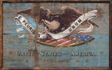 United States USA Shield Vintage Wood Sign