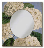 Hydrangea Mirror Wood Sign