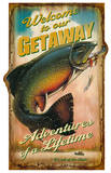 Welcome To Our Getaway Vintage Wood Sign