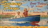 Sunny Day Lodge Lake Resort Vintage Wood Sign