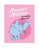 Horton Hears a Who (pink circle) Reproduction d'art par Theodor (Dr. Seuss) Geisel