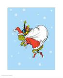 Grinch Collection III - He's a Mean One (snow) Reproduction d'art par Theodor (Dr. Seuss) Geisel
