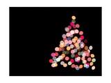 Multicolored Lights on Christmas Tree