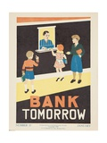 1938 Character Culture Citizenship Guide Poster  Bank Tomorrow