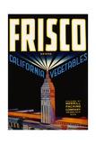 Frisco California Vegetables Crate Label