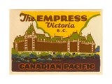 The Empress Luggage Label