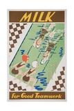 Milk for Good Teamwork Poster