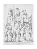 Three Osage Warriors